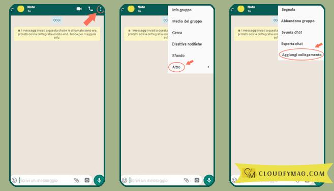 Come usare whatsapp per salvare appunti e documenti