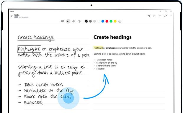convertire scrittura a mano in testo