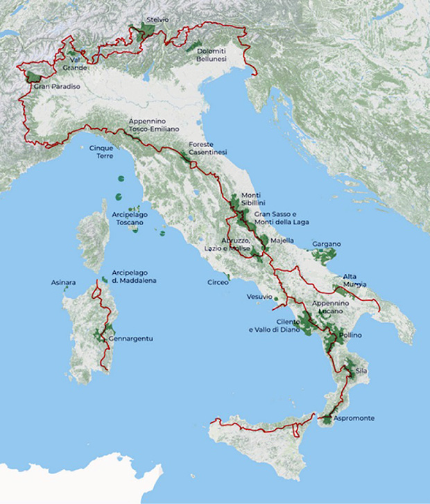 percorso trekking italia cai