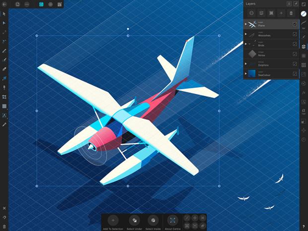 grafica vettoriale iPad