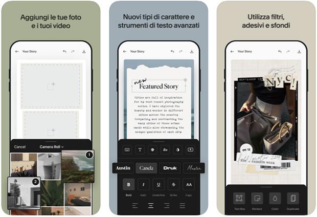 app per instagram stories